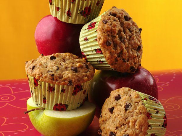 Choco Chip-Applesauce Muffins (maybe try to make them mini muffins for the kiddos)