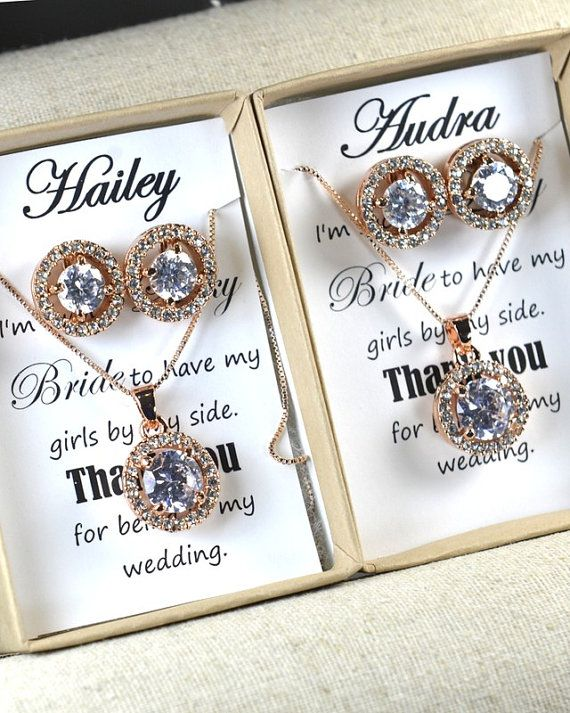 Rose Gold Earrings,cubic zircon,Wedding Jewellery,Rose Gold Bridal Jewelry SET,silver set,Bridal Set,Bridesmaids Jewelry Set,Crystal Pendant
