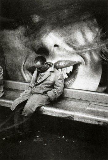 Mario Dondero, Clochard dans le métro