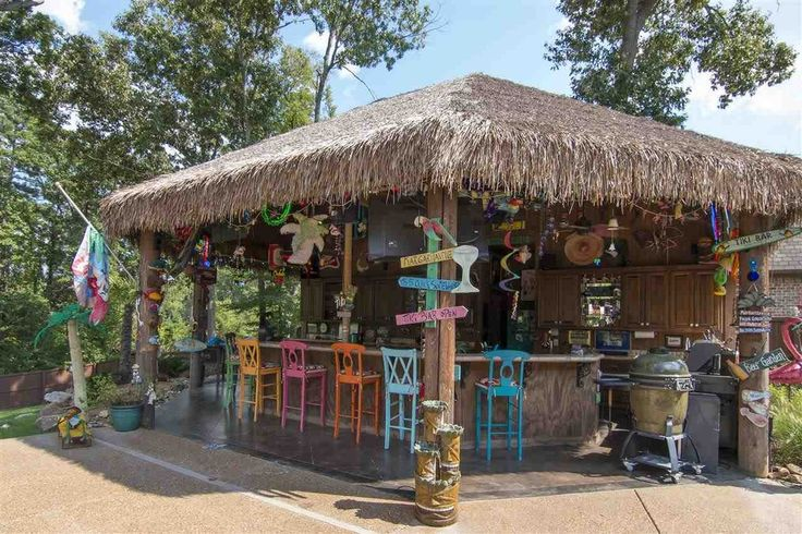 We can't come up with one good reason why you wouldn't want this tiki bar in your backyard.