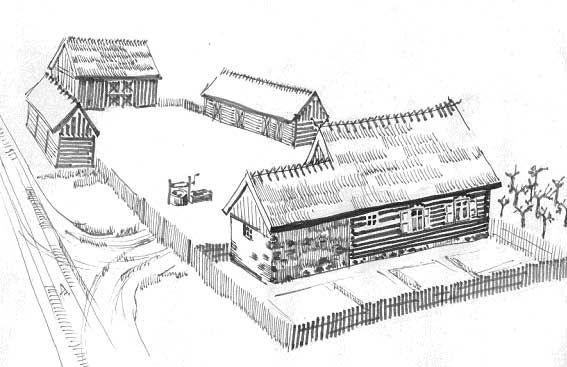 Witryna Wiejska - Architektura tradycyjna- Kurpie
