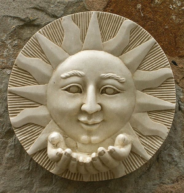 garden wall plaques sun moon wall plaques sun wall. Black Bedroom Furniture Sets. Home Design Ideas
