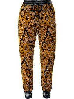 бархатные спортивные брюки
