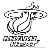 miami heat coloring pages and sports basketball on pinterest. Black Bedroom Furniture Sets. Home Design Ideas