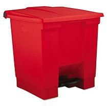 Rubbermaid Step On Medical Waste Can - Red - 8 gal.