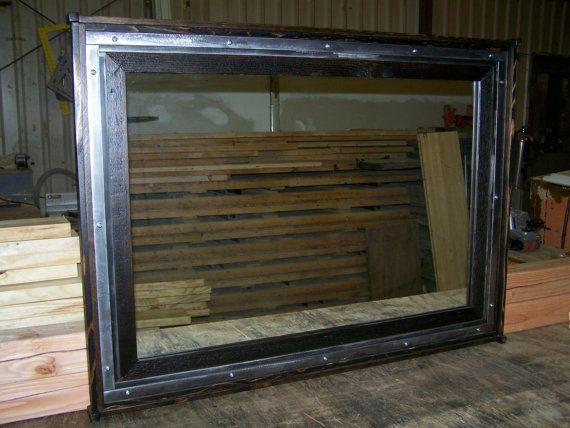 FRAMES CUSTOM  INDUSTRIAL Framed mirrosr by BrooklynReclamation, $425.00
