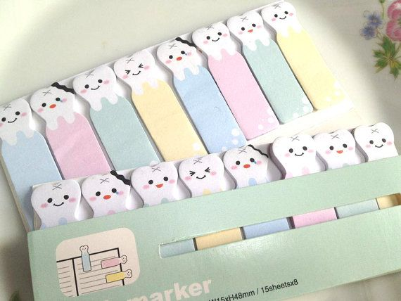 Adorabel denti nota appiccicosa emoji dente di StickersKingdom