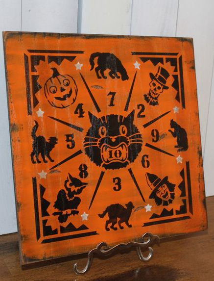 halloween game boarddime tosspennyvintage stylecarnival stylewood sign hand paintedhalloween sign by worldssweetestsigns on etsy - Etsy Halloween Decorations