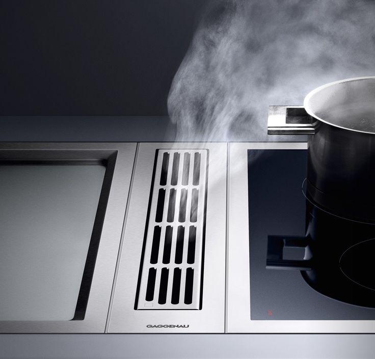 Afzuiging in kookplaat