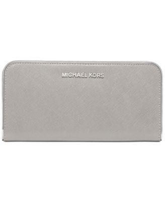 MICHAEL Michael Kors Specchio Jet Set Travel Zip Around Continental Wallet  | macys.com