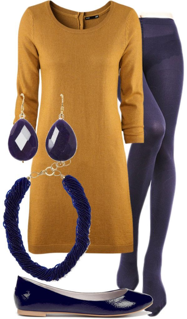 How to wear navy and gold