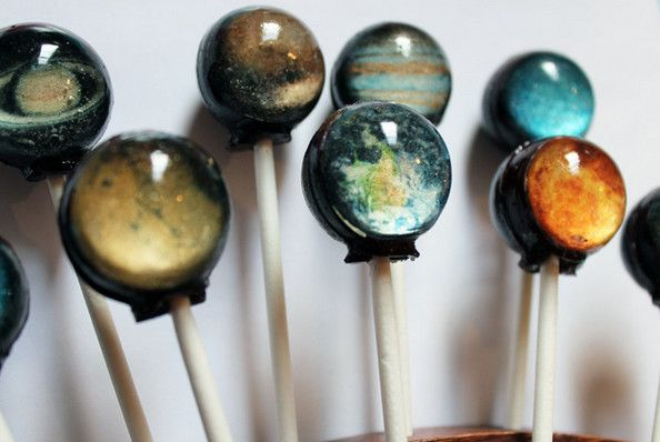 Solar System Lollipops by Vintage Confections