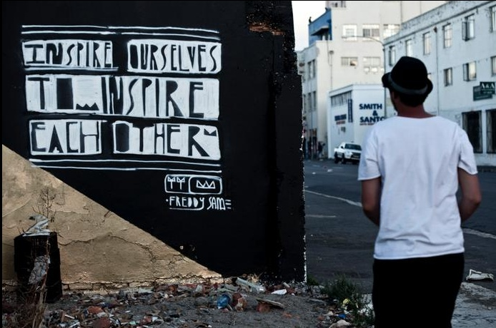 """""""Inspire ourselves to inspire each other."""" Found in South Africa. #art"""