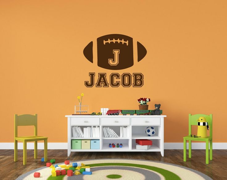 Personalized+Football+Name+Decal++Sports+Decor+by+NewYorkVinyl,+$24.00