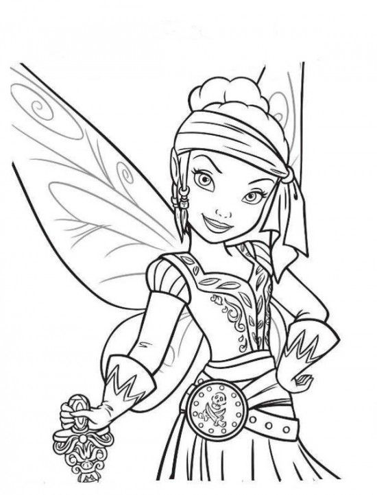 Free Tinker Bell and The Pirate Fairy Coloring Pages