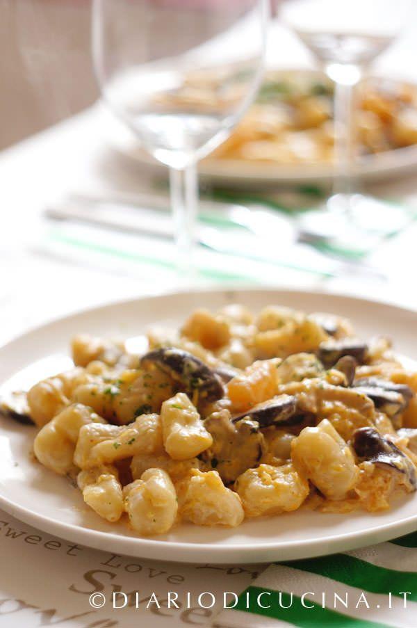 Cavatelli ai funghi porcini, zucca e mascarpone - Diario di Cucina. Expat-Mamma in Francia