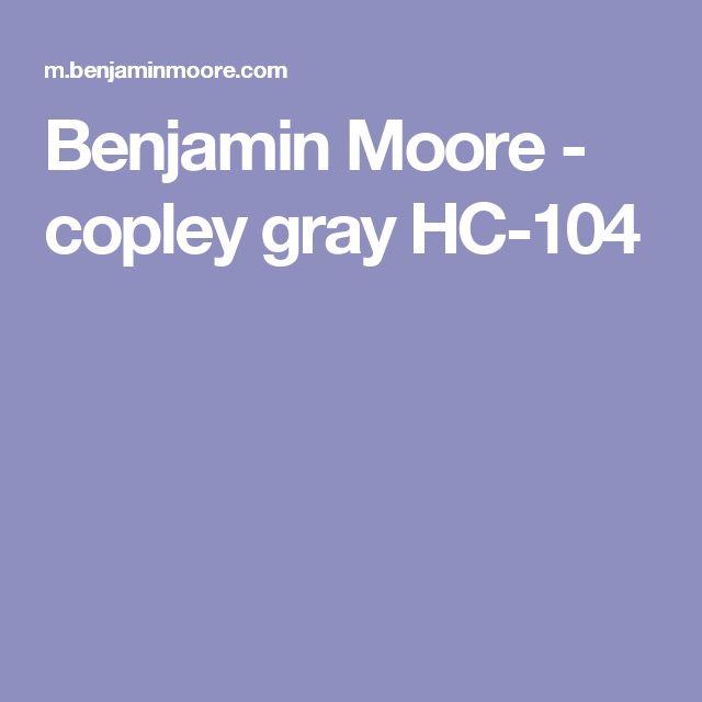 Benjamin Moore - copley gray HC-104
