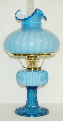 Fenton Aladdin 1994 Grand Vertique Table Lamp