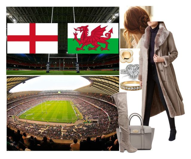 """""""Watching the England V Wales game"""" by alicewindsor ❤ liked on Polyvore featuring Mark Broumand, Orla Kiely, Cartier, Hobbs, Mulberry and Steve Madden"""