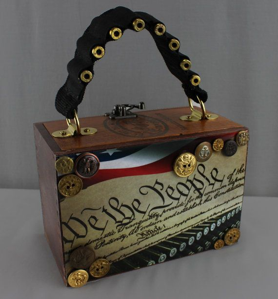 2nd Amendment Cigar Box Purse