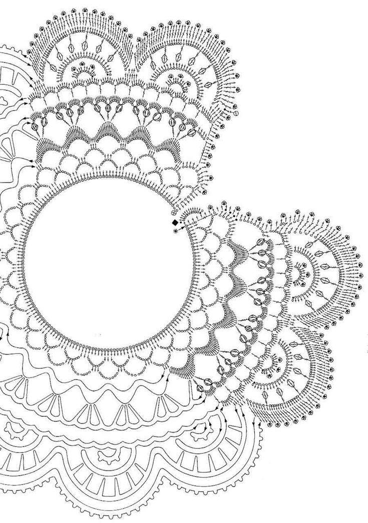 7 best cuellos tejidos images on Pinterest | Crochet jewellery ...