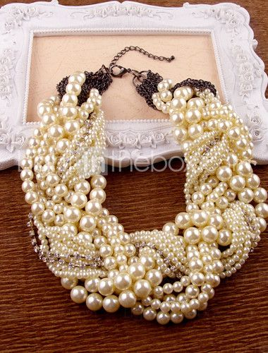 I love pearls. Just like Julia Child. Although, I can't really imagine she ever wore a set like these...