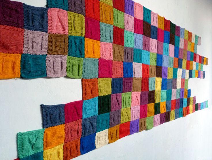 Paz Carvajal | El laberinto de la soledad, Texto tejido, 2012