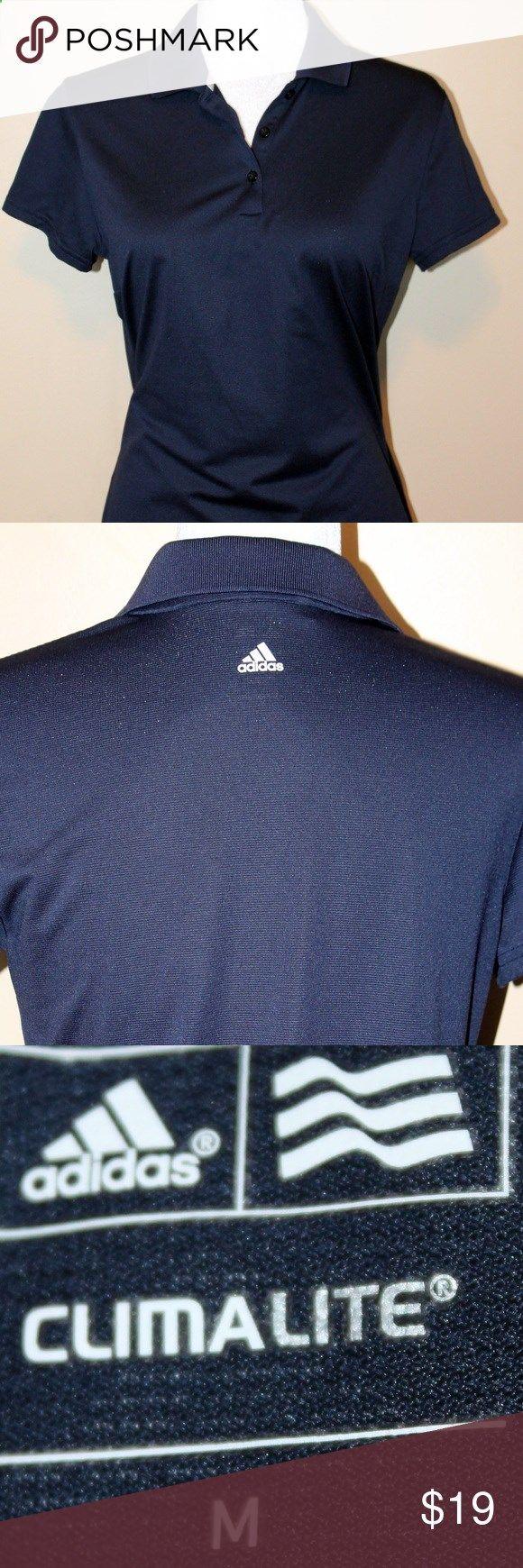 Golf Shirts - ADIDAS Navy blue Golf Shirt Navy blue golf shirt from Adidas with climalite technology Adidas Tops