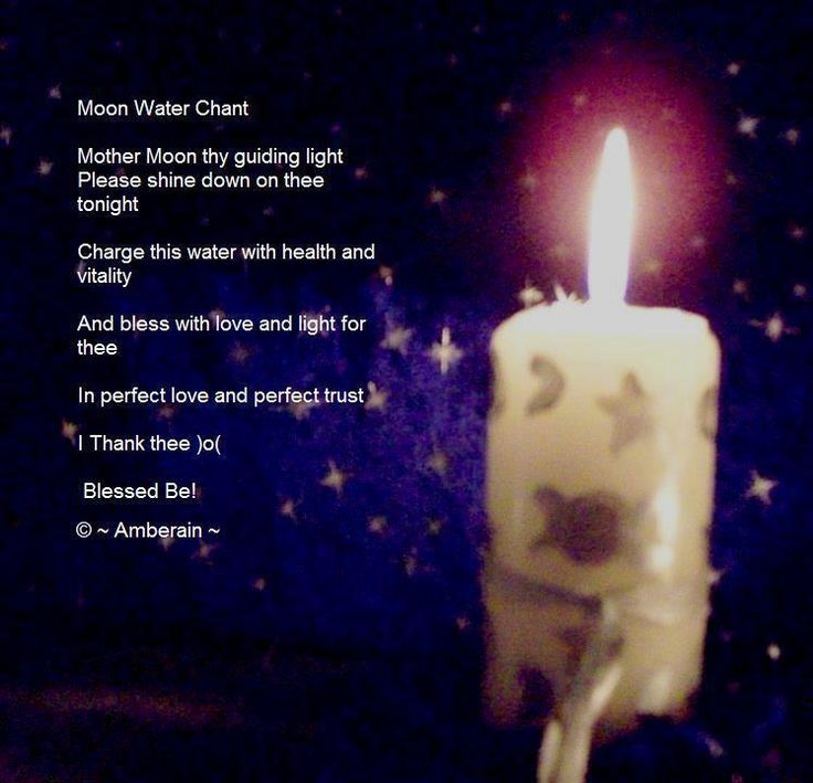 FULL MOON ... Moon Water Tonic Items Needed  Bowl Of purified water White Moon Candle ~ This can be decorated with moon symbols. Clear Quartz Crystal  To Prepare Moon Water  When the sun goes down and preferably on a clear night, on or right before the full moon, put your clear glass bowl of purified water somewhere safe and under the moon light or on your outdoor altar along with your candle and crystal. Light the candle Place the crystal in the water  SAY THIS CHANT:-  Moon Water Chant…