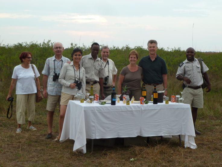 Upscale sundowner at Camp Okavango in Botswana Botswana101.com #UpscaleSundownerBotswana
