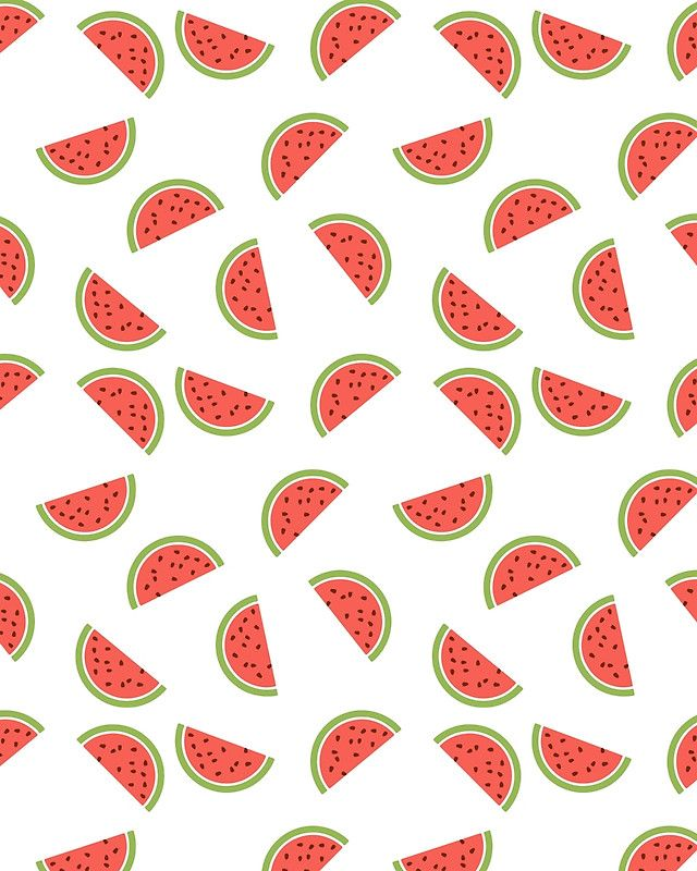 WATERMELON SLICES WITH SEEDS FRUIT FOOD PATTERN -  Watermelon for fruit is what summer is for the seasons. It's just always good and it hits the spot most during summer. Especially when you cut it in slices and just appreciate what mother nature created.  watermelon melon slices seeds fruit food pattern nature tree summer hipster zara