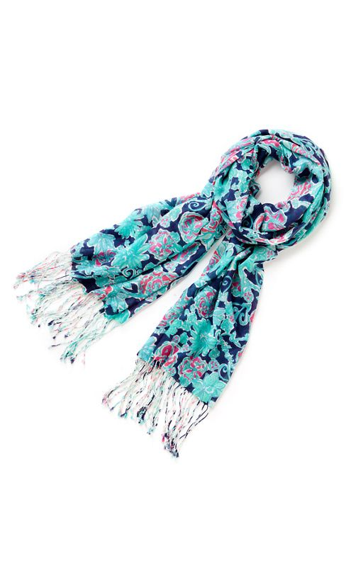 Sagittarius scarf (Nov 22-Dec 21): Lucky Sagittarius, you are the most optimistic sign. That is why you are wearing Lilly right now! Anything is possible, you make your own future by dreaming BIG. You are happiest on the move hmmm you must need to travel to warm places much, much more often. This year is your year to follow the sun. It's always summer somewhere!