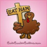 Pink Thomas Turkey With Sign Cookie Cutter | Cheap Cookie Cutters is the Cookie Cutter Leader