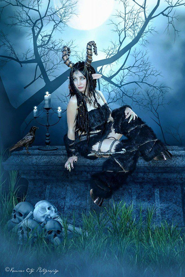 My black satyr costume. Fantasy costumes, City