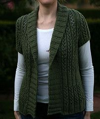 Ravelry: Ariosa Wrap Cardi pattern by Cecily Glowik MacDonald. Very pretty - but I'd make full length sleeves