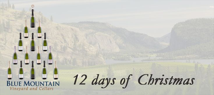 "To celebrate a great year we're toasting with a ""12 days of Christmas"" giveaway! We will feature one Blue Mountain wine or gift for each of the next 12 days along with the perfect holiday occasion to enjoy them or ideas on who to share them with."