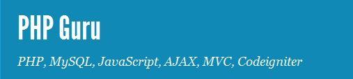 PHP, MySQL, JavaScript, AJAX, MVC, CodeIgniter Blog