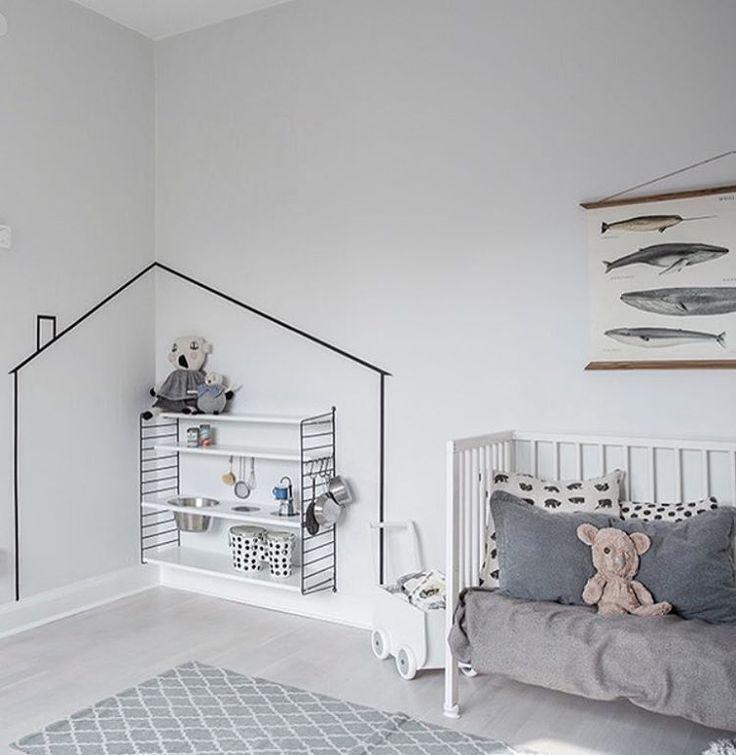Camaïeu de gris dans la chambre des petits