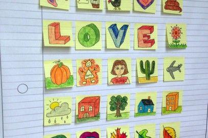 Post It Note Art Show