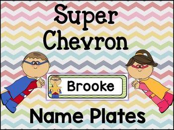 @brookesbundles #tpt SUPER CHEVRON NAME PLATES! ALL EDITABLE!