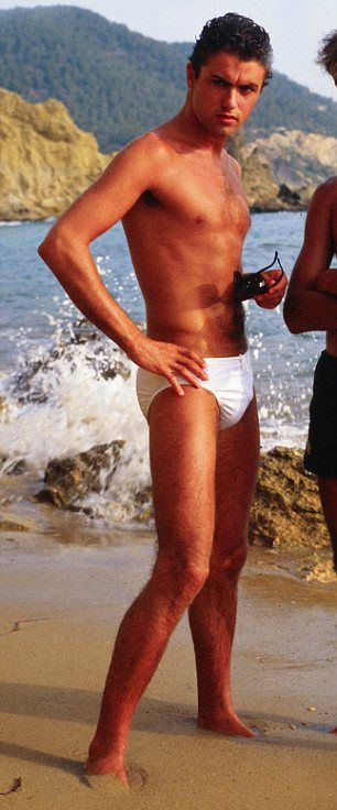 Club Tropicana? Mark Wright was channeling his inner George Michael in Ibiza earlier this month donning a pair of tiny pants
