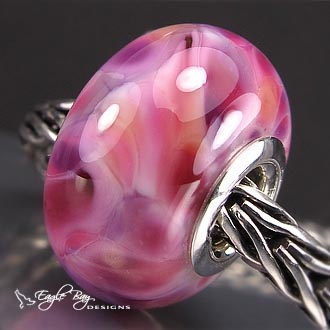 honeysuckle glass charm bead artglass