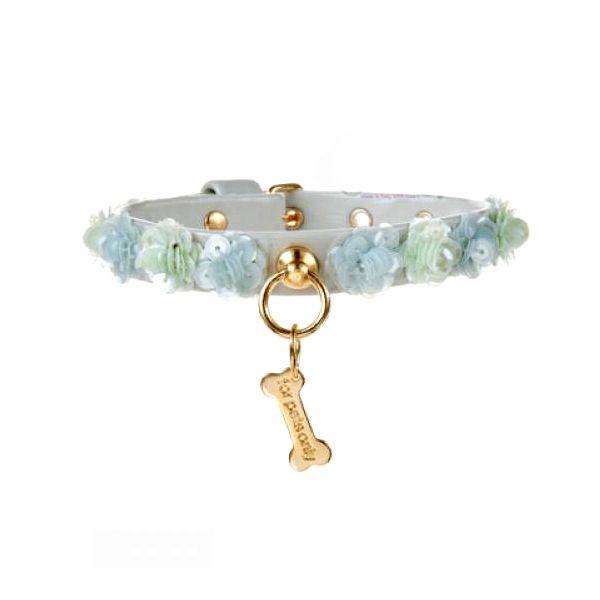 Collar para perro con flores y lentejuelas