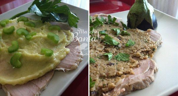 Vitello con salsa di melanzane e di sedano . #ricetta di @wondercle