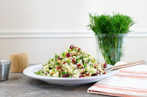 Mediterranean Cauliflower Couscous Salad Recipe on Yummly