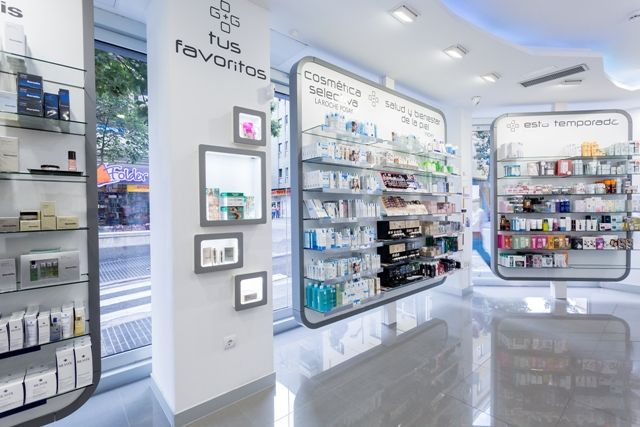96 best images about cashier counters on pinterest for Muebles para farmacia