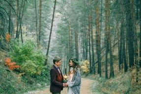 wedding in the autumn forest