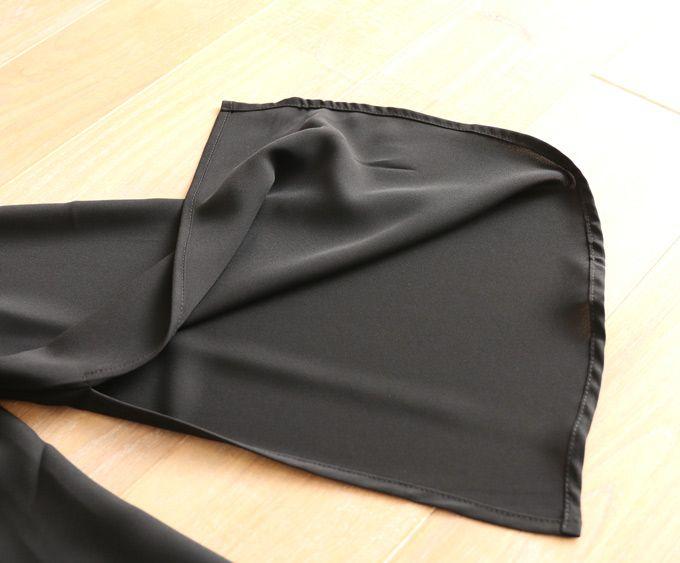 【再入荷♪11月13日12時&22時より】(ブラック)「french」ヌーディな黒レース重ねと旬な袖スリットをトップス