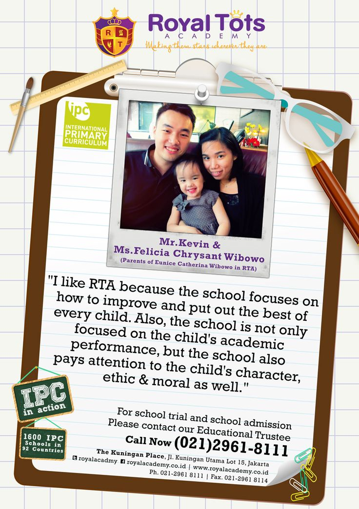 Mr.Kevin Andreas & Ms.Felicia Chryssant Wibowo (Parents of Eunice Wibowo in Kindergarten 1 Class)  #Parent #IPC #School #Testimony