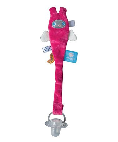 Another great find on #zulily! Pink Gila Pacifier Clip by Snooze Baby #zulilyfinds